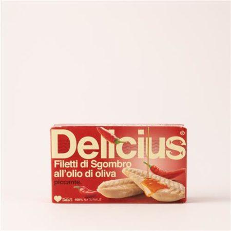 Delicius Mackerel Fillets in Chilli Oil 125g