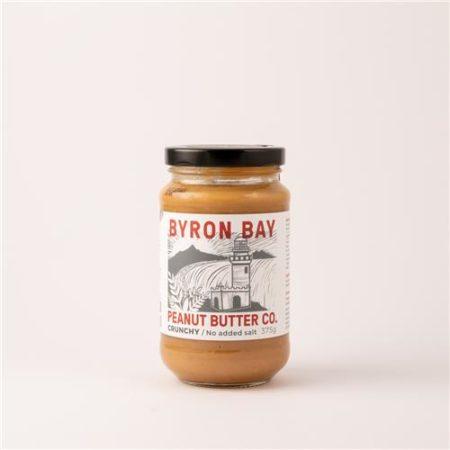 Byron Bay Peanut Butter Co Crunchy No Salt Added 375g