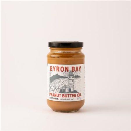 Byron Bay Peanut Butter Co Smooth No Salt Added 375g