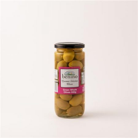 Benino Green Whole Olives 500g