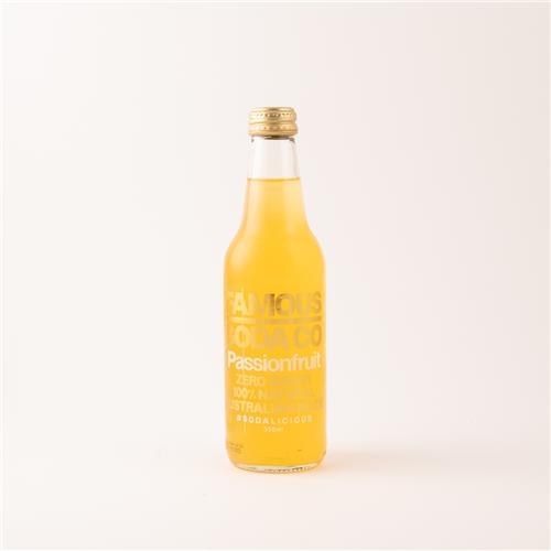 Famous Soda Co Passionfruit 330ml
