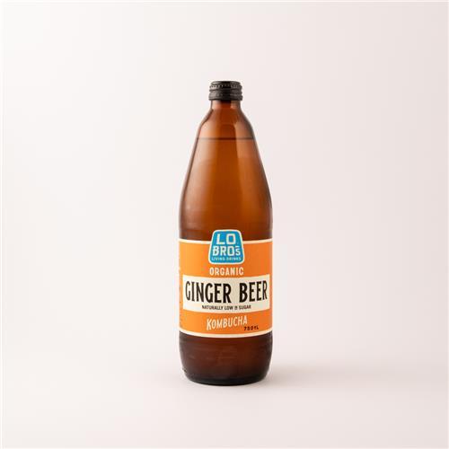 Lo Bros Organic Ginger Beer Kombucha 750ml