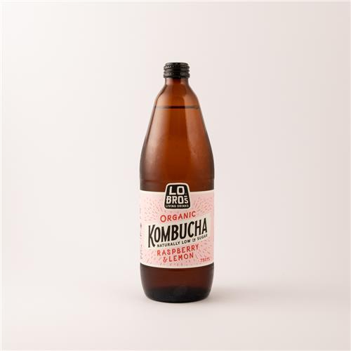 Lo Bros Organic Raspberry & Lemon Kombucha 750ml