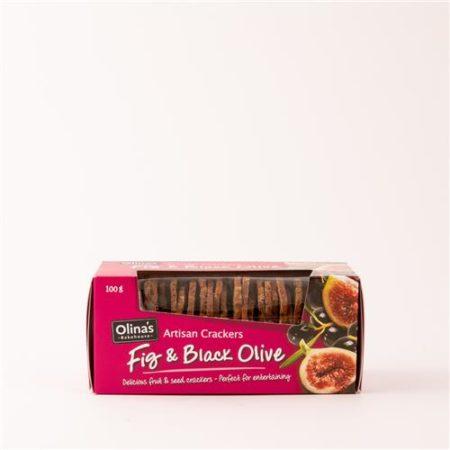 Olinas Fig & Black Olive Cracker 100g