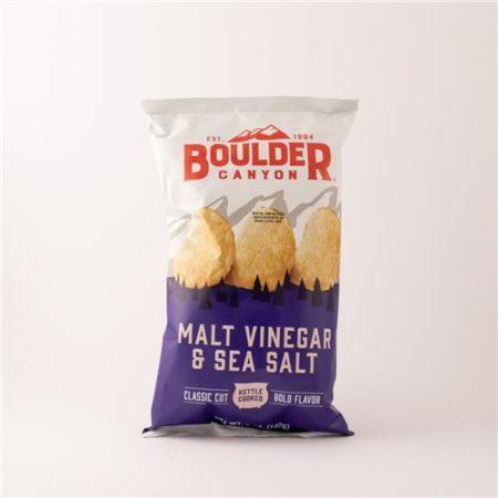 Boulder Malt Vinegar & Sea Salt Chips 142g