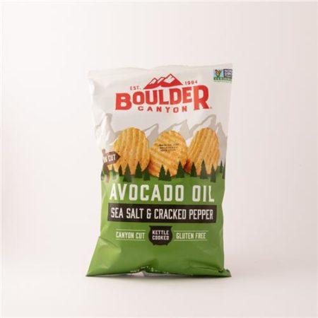 Boulder Sea Salt & Cracked Pepper Avocado Oil Chips 148g