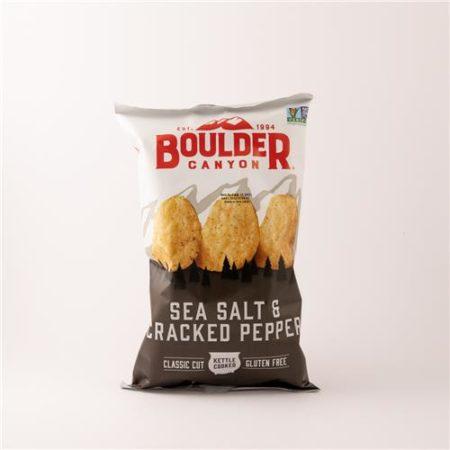 Boulder Sea Salt & Cracked Pepper Chips 142g
