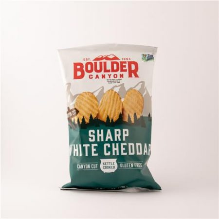 Boulder Sharp White Chedar Chips  170g