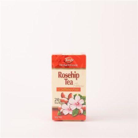 Tasty Herbal Infusion Rosehip Tea Caffeine-Free 20 Tea Bags