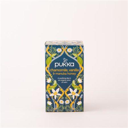 Pukka Camomile Vanilla & Manuka Honey Tea Organic 20 Tea Sachets