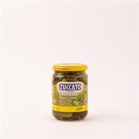 Zuccato Sweet 'n' Sour Gherkins in Wine Vinegar 330g