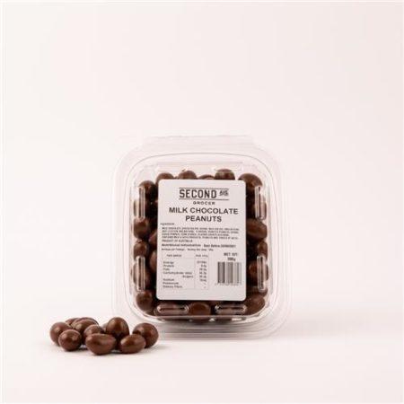 Second Ave Milk Chocolate Peanuts 200g