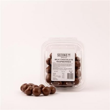 Second Ave Milk Chocolate Raspberries 200g