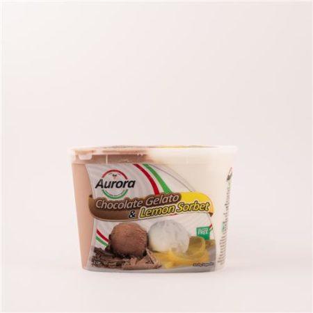 Aurora Chocolate Gelato & Lemon Sorbet 2L