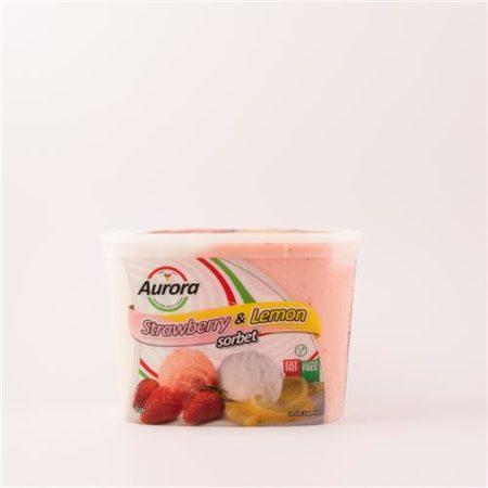 Aurora Strawberry & Lemon Sorbet 2L
