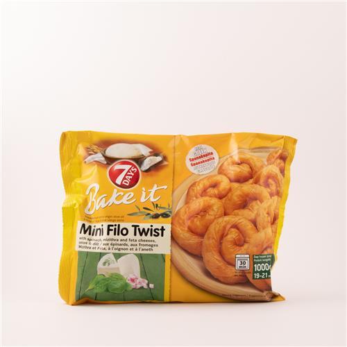 7 Days Mini Filo Twist Spinach and Feta 1kg
