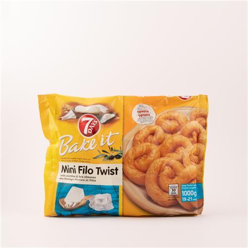 7 Days Mini Filo Twist Feta 1kg