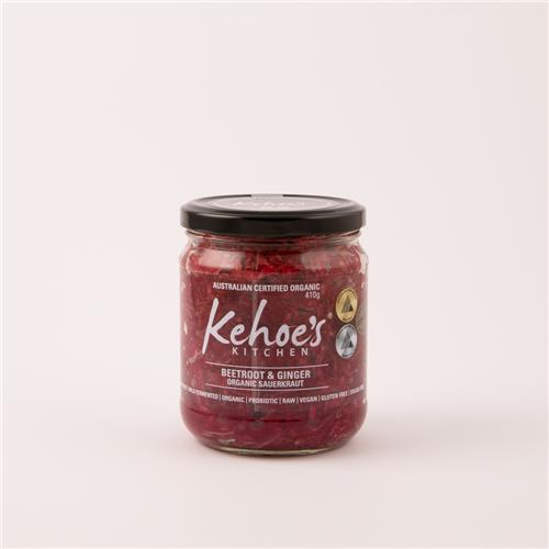 Kehoes Beetroot & Ginger Sauerkraut 410g