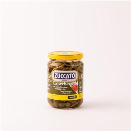 Zuccato Caperberries in Sweet'n Sour Vinaigrette 330g