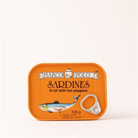 Marco Polo Sardines in Oil with Hot Peppers 105g