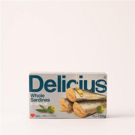Delicius Whole Sardines in Olive Oil 120g